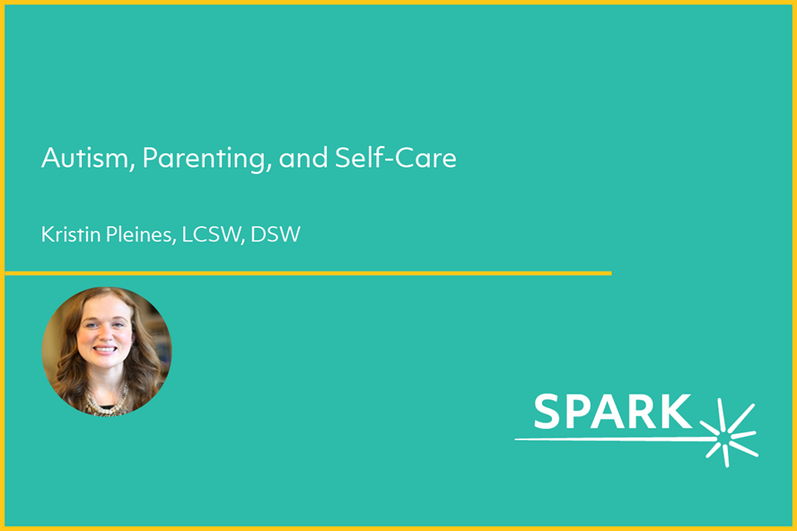 Webinar image for autism, parenting, and self-care