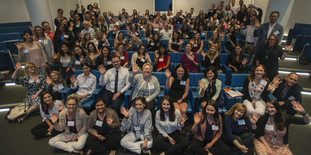 Photo of attendees at the 2019 SPARK annual meeting. It includes clinical site staff as well as SPARK staff.