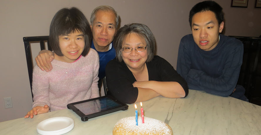 A photo of the Lee family