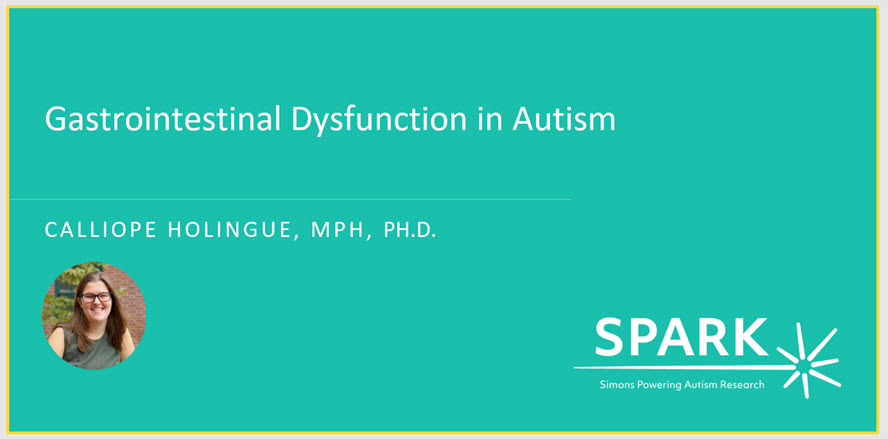 Webinar on gastrointestinal issues in autism